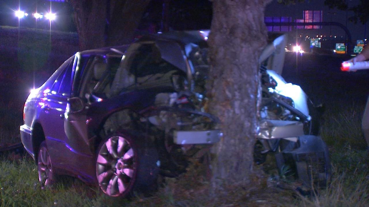 Man Dies After Car Hits Tree Next To Tulsa Highway