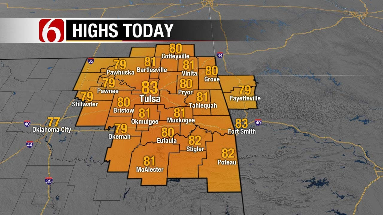 Windy And Warm Across Eastern Oklahoma