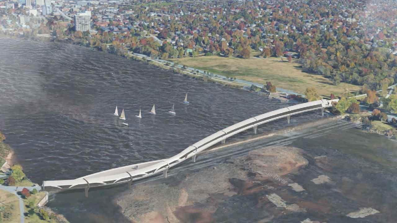 Four Finalists Picked For Tulsa's New Arkansas River Pedestrian Bridge