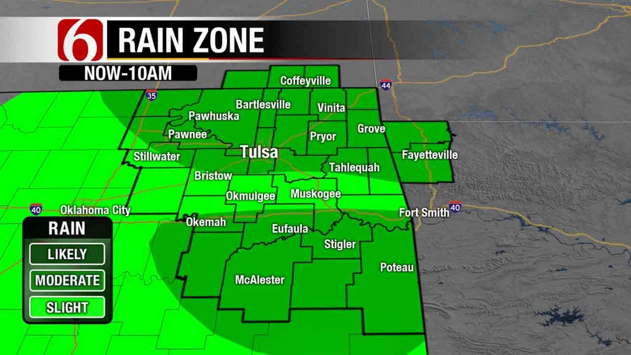 Morning Storms Move Across Green Country