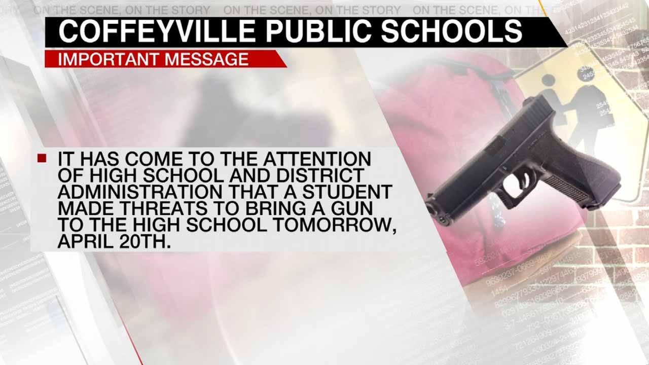 Coffeyville Schools: Student In Custody After Making Threat