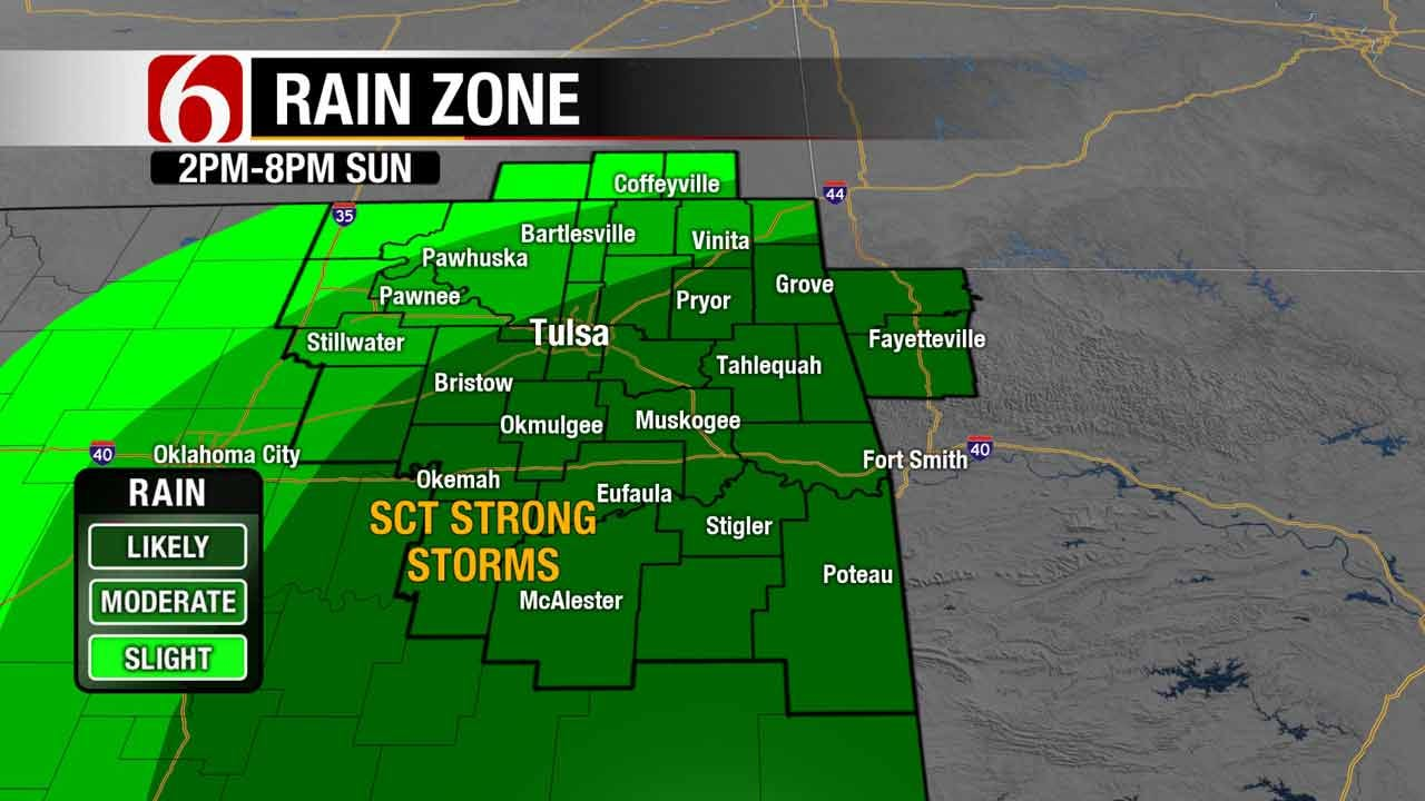 More Showers & Storms In Store For Eastern Oklahoma