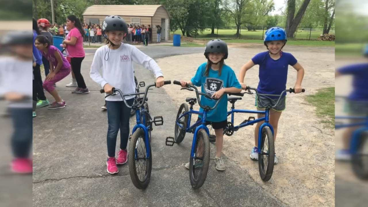 Jenks Students Use BMX Bicycles In Unique Learning Experience