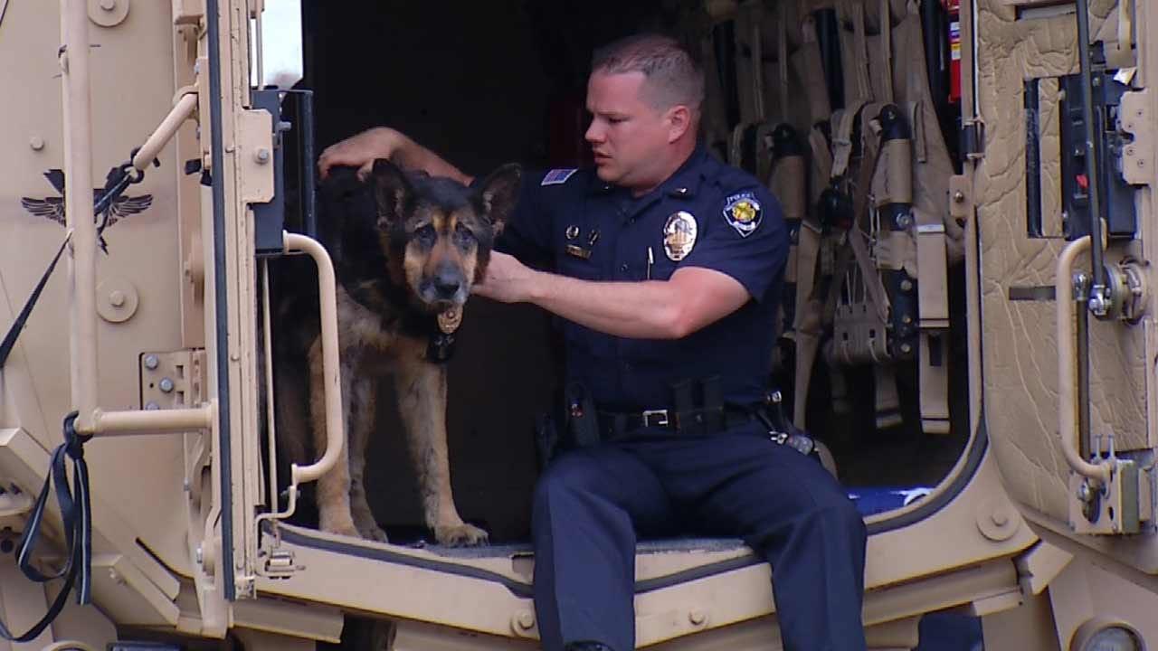 Muskogee Police Say Goodbye To Retired K-9 Officer 'Bosco'