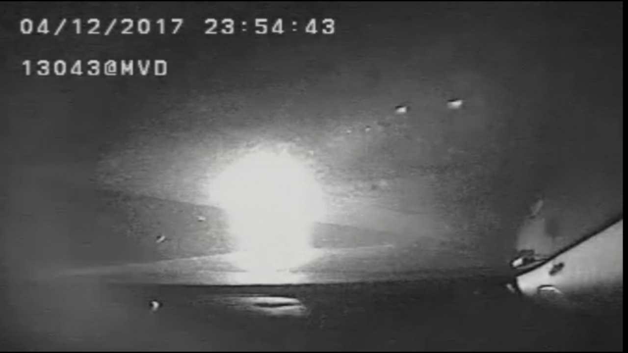 Tulsa Police Release Dashcam Video Of Officer Injured In Head-On Crash