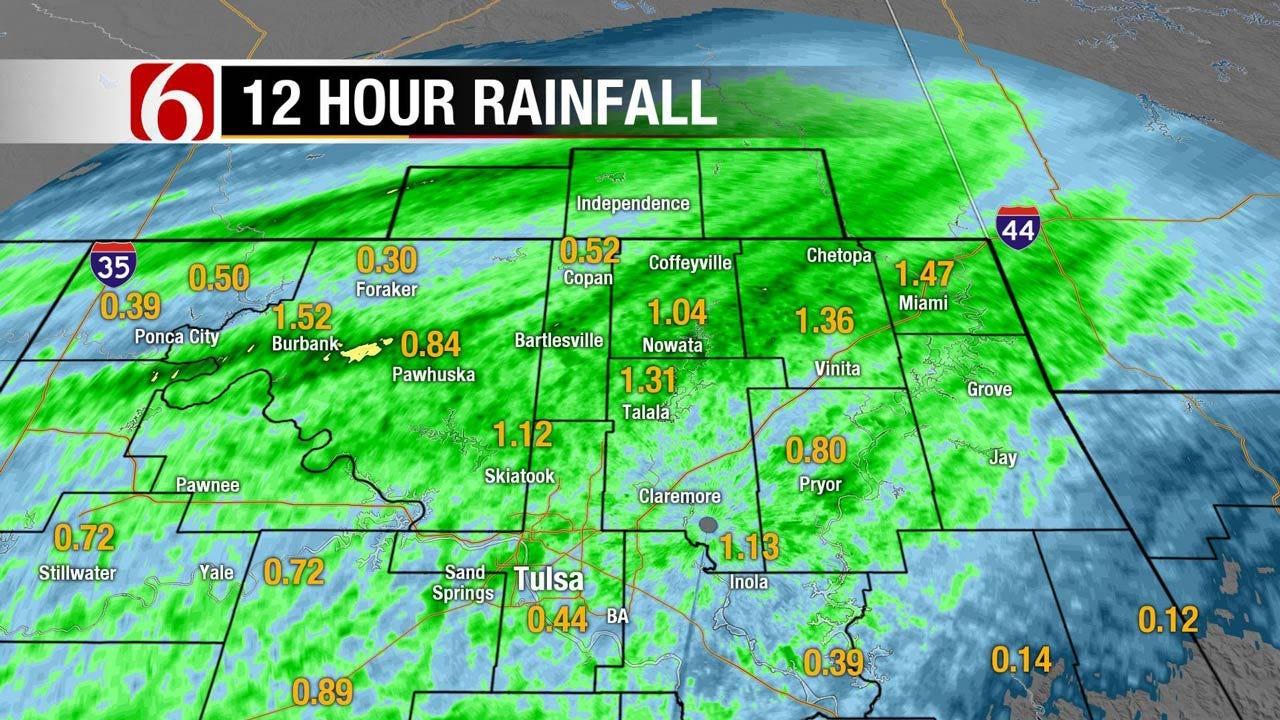 Heavy Rain, Severe Weather Threaten Eastern Oklahoma
