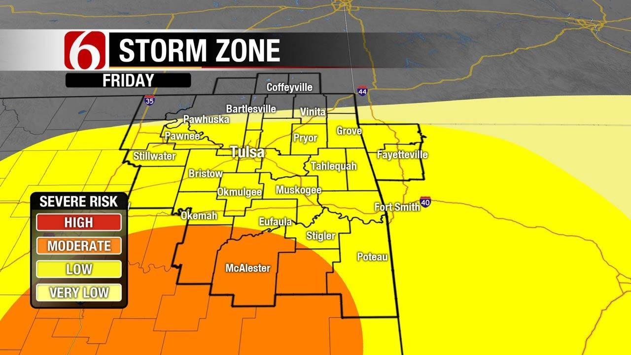 Heavy Rains, Severe Thunderstorms Moving Across Eastern Oklahoma