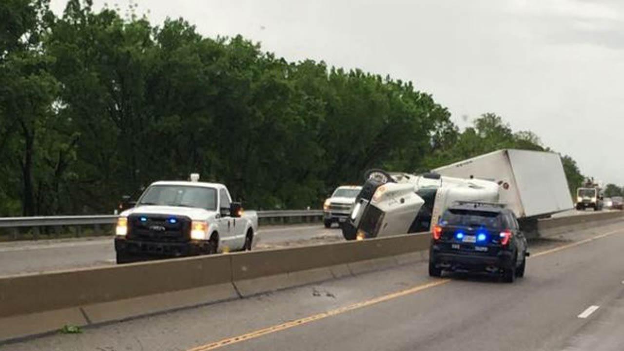 Truck Wreck Stops Traffic On Turner Turnpike