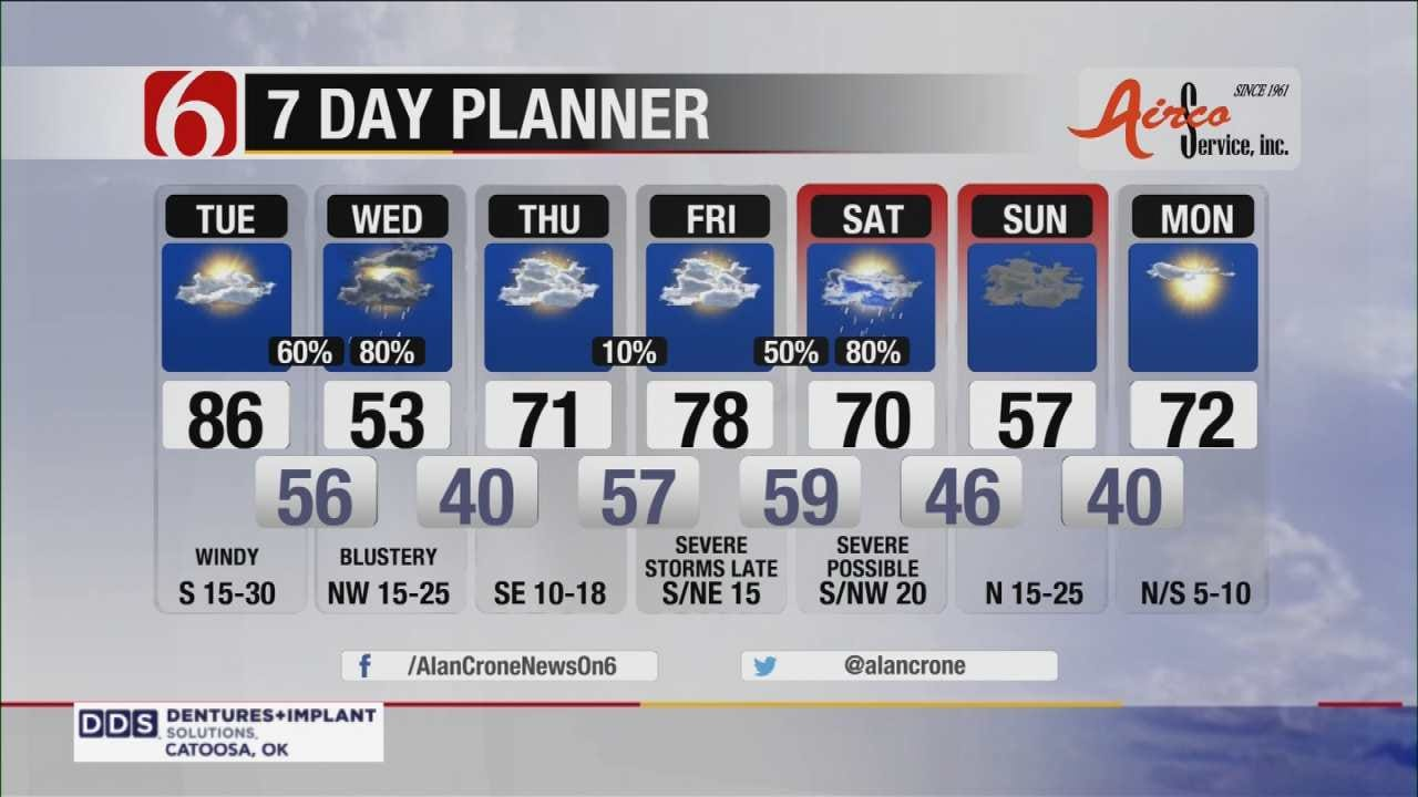 Chance Of Severe Storms Across Northeast Oklahoma