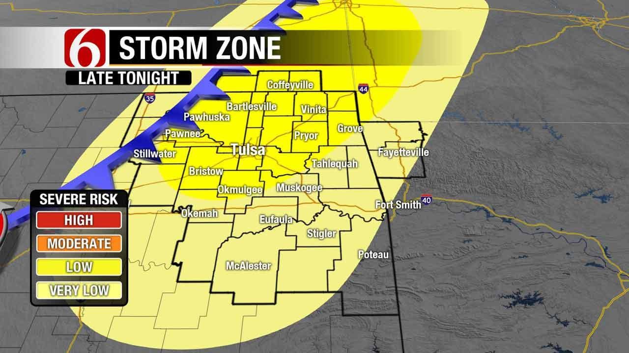 Cold Front Brings Chance Of Severe Weather To Northeast Oklahoma