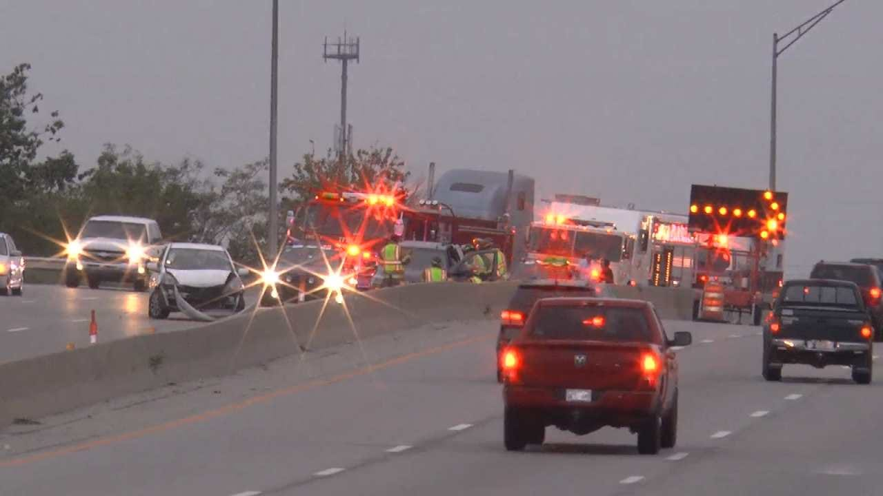 Crashes Slow Traffic On Tulsa Highways