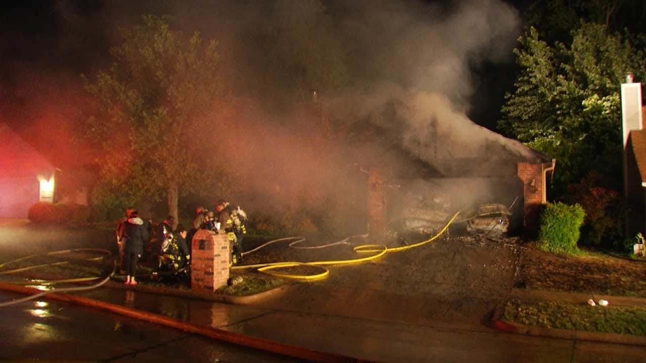 No One Injured In Jenks House Fire