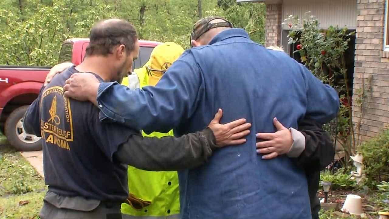 Volunteers Bring Relief To Mayes County Residents Cleaning Up After Tornado