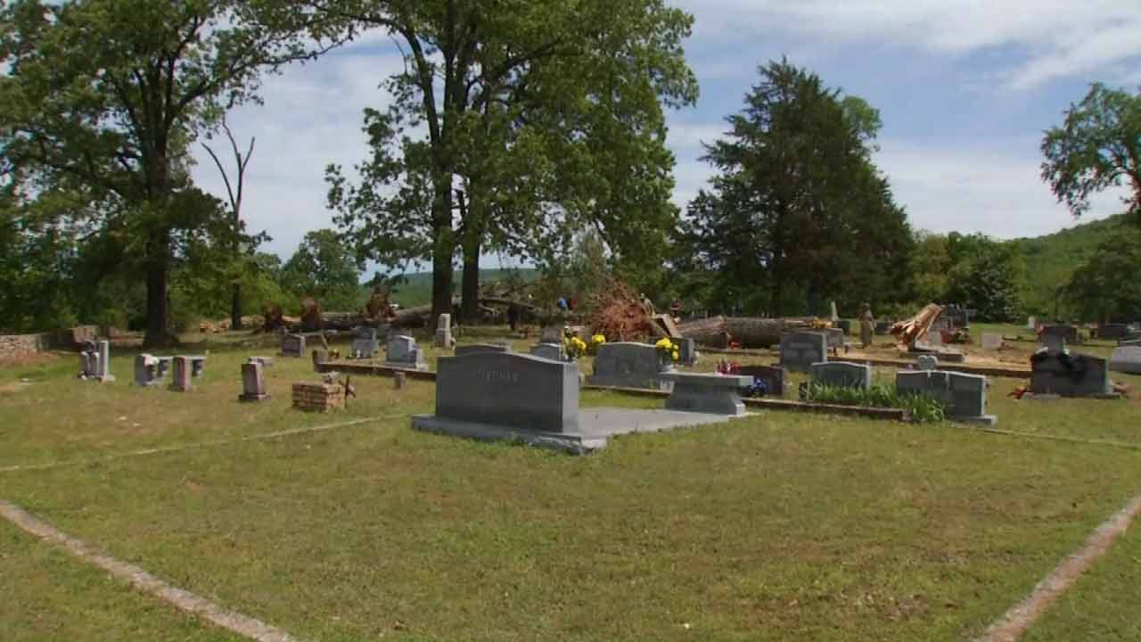 Volunteers Work Together To Clean Up Adair County Cemetery
