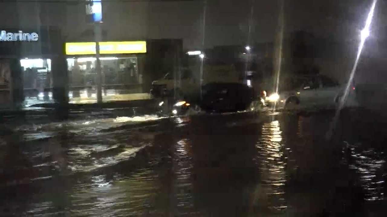 High Water Across Tulsa Street Strands Driver