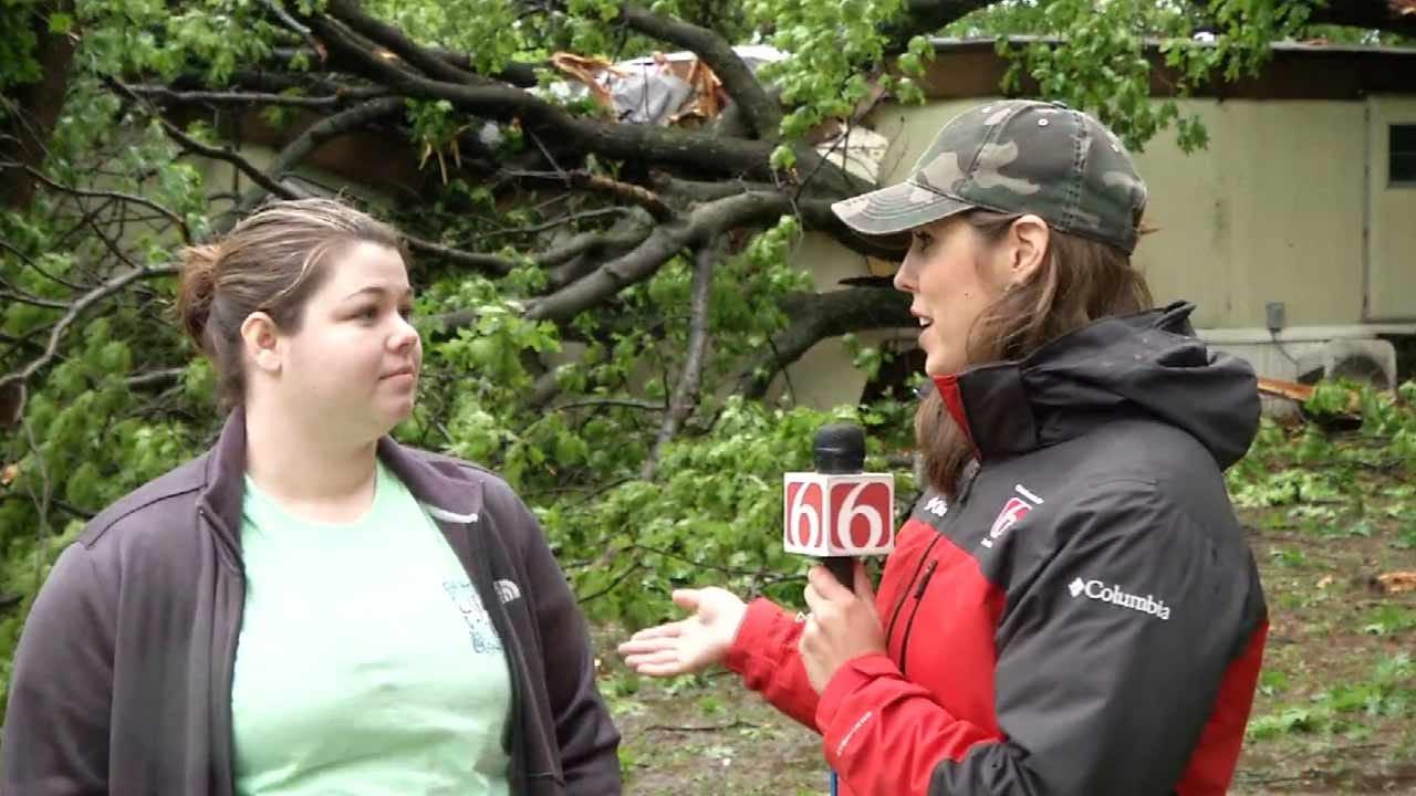 Trees Crash Into Several Mobile Homes In Westport
