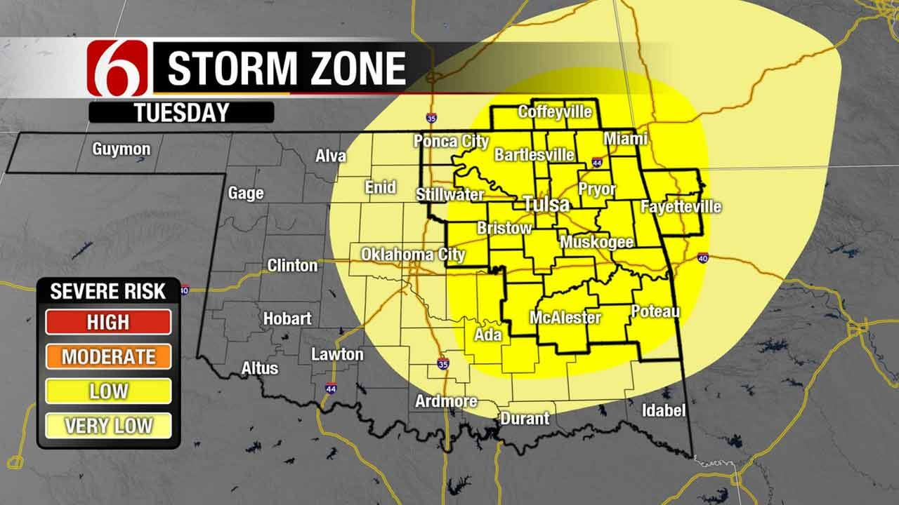 Another Chance Of Storms Tuesday In Green Country