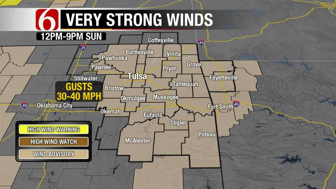 Chilly, Windy Sunday Ahead For Green Country