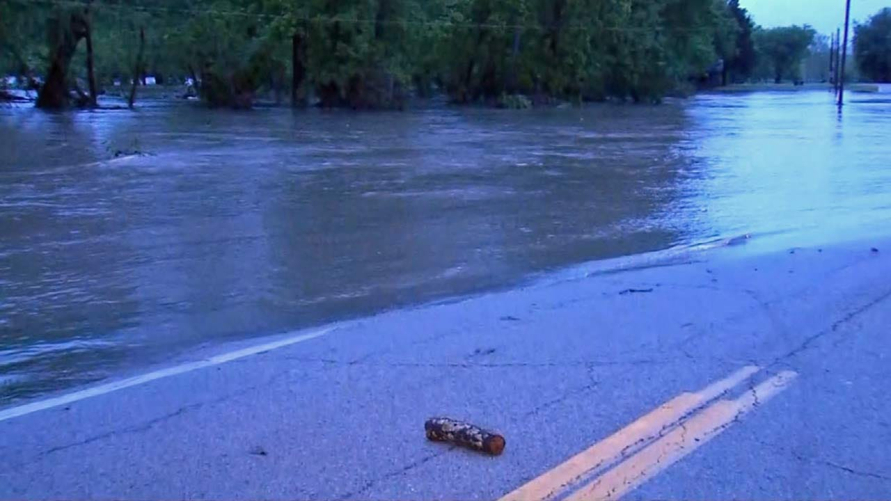 Flooding Closes Highway 82 In Spavinaw