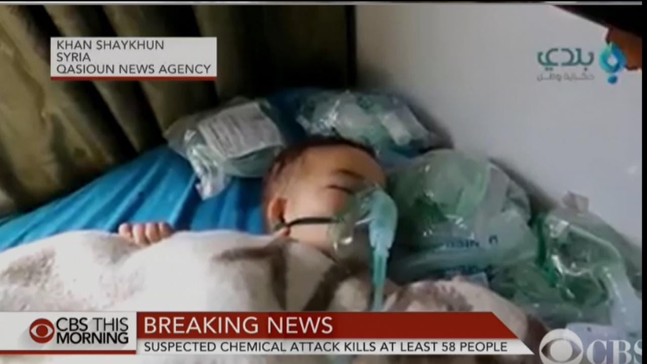 Reports: Civilians, Including Children, Killed In Syrian Chemical Attacks