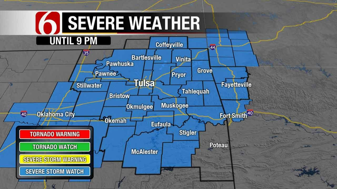 Severe Thunderstorm Watch In Effect For Most Of Green Country