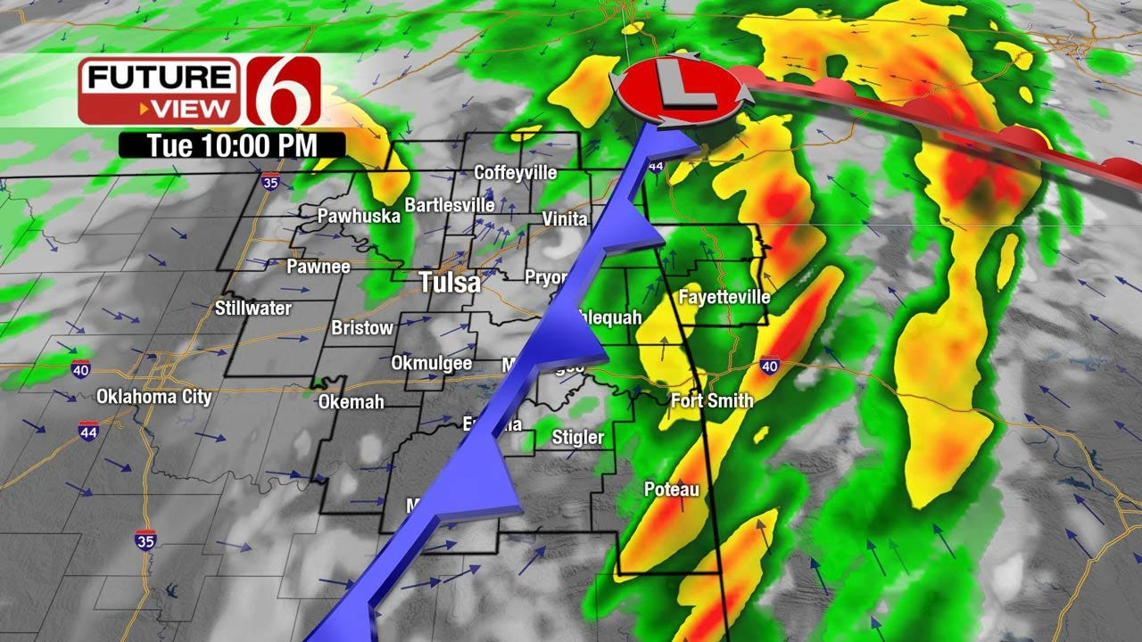 Severe Thunderstorms Possible Across Eastern Oklahoma