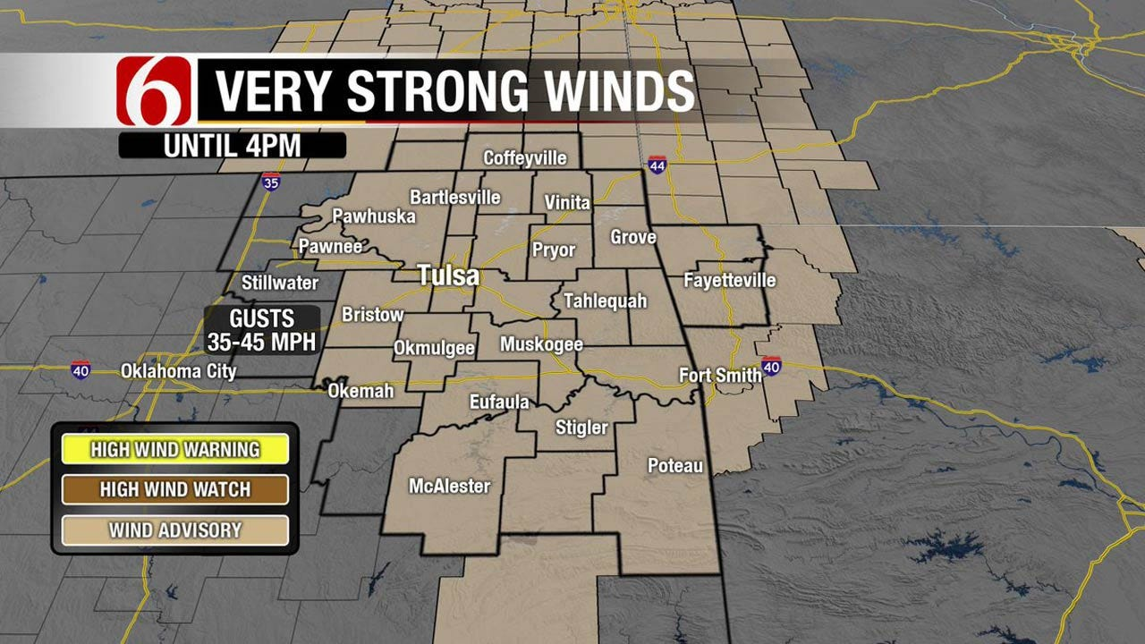 Chilly And Windy Across Eastern Oklahoma