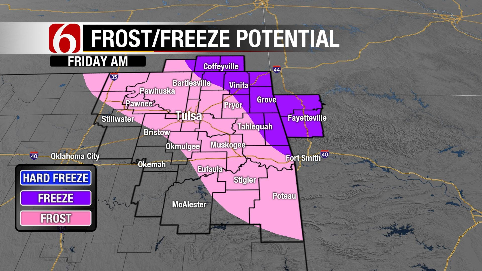Clearing Tonight, Frost/Freeze Potential.