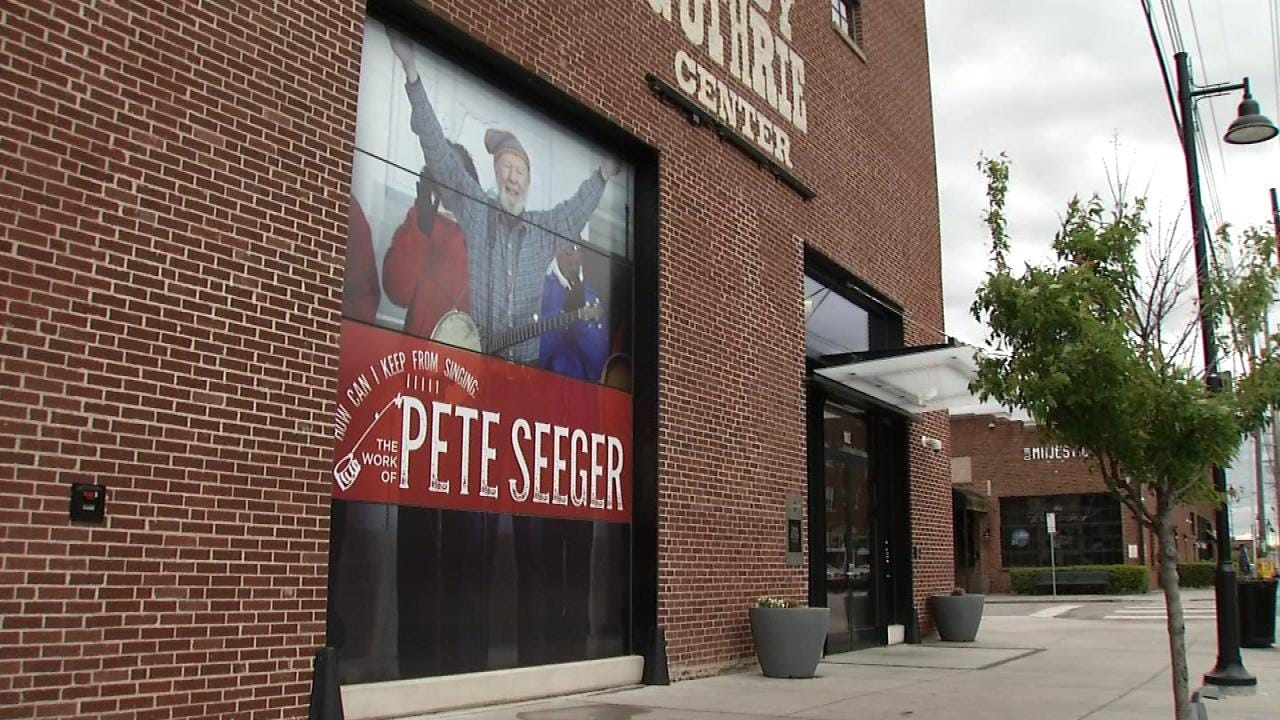 Pete Seeger Exhibit Opens At Woody Guthrie Center