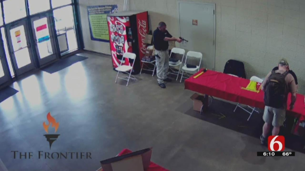 The Frontier: Surveillance Footage Of Shooting At Wanenmacher's Tulsa Arms Show