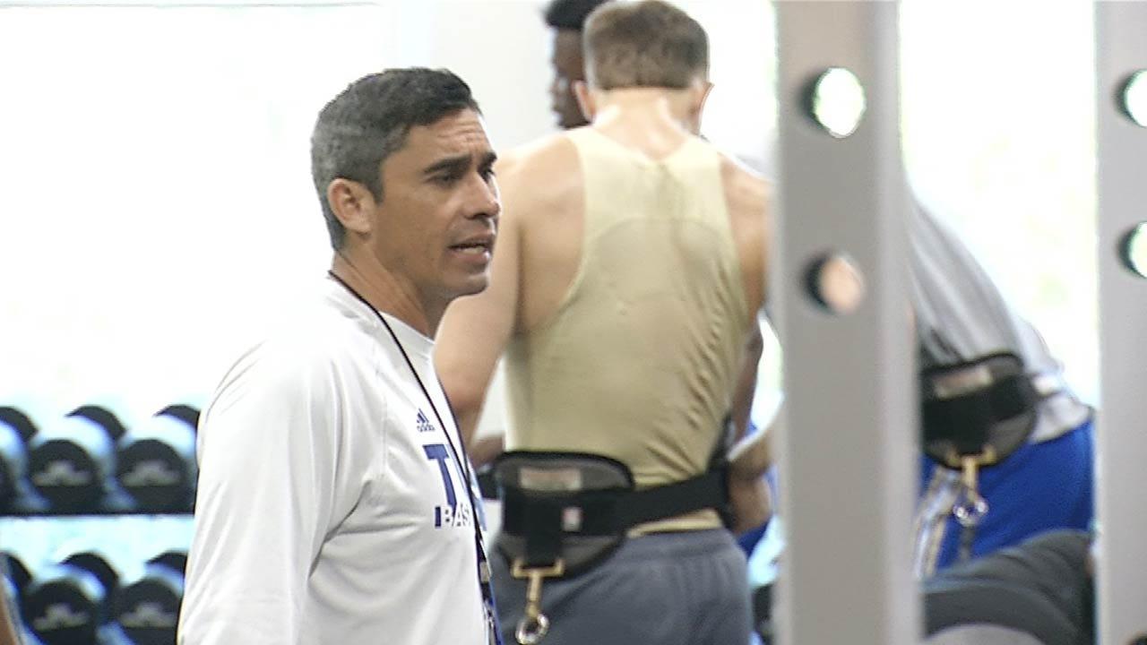 New TU Strength Coach Putting Basketball Players To Work