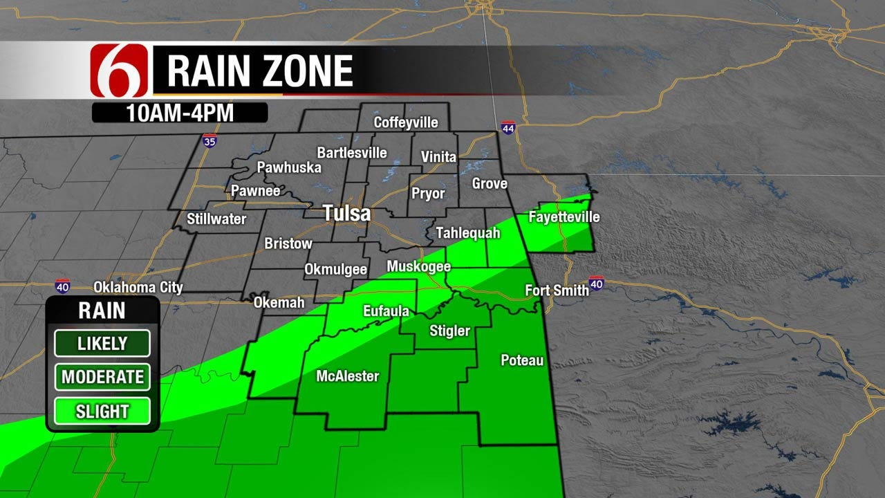 Showers Possible Across Eastern Oklahoma