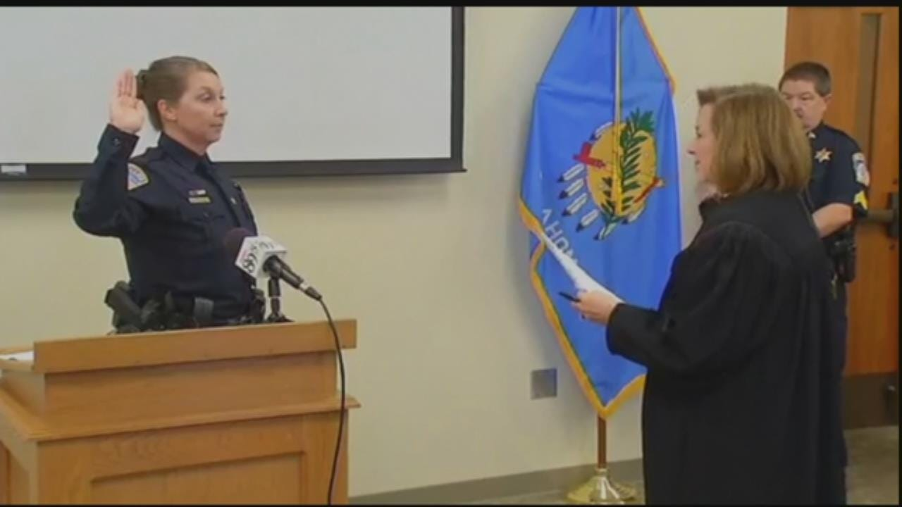 Betty Shelby Sworn In As Rogers County Sheriff's Reserve Deputy