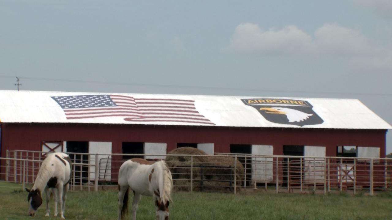Huge American Flag Painted On Okmulgee County Barn Honors Veteran