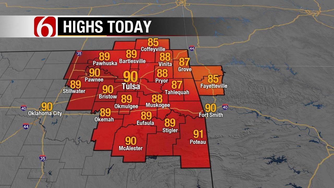 Rain, Storms Expected Across Eastern Oklahoma