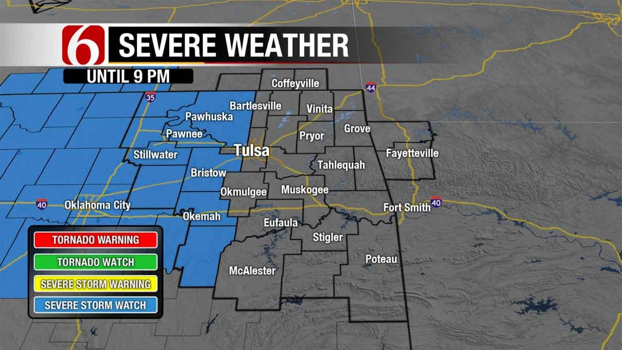 Storms Expected In Parts Of Oklahoma, Kansas
