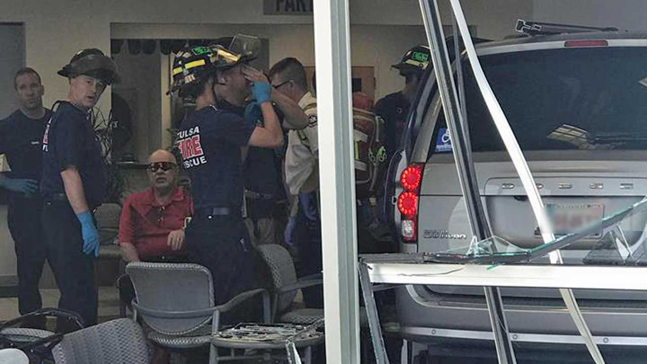 Van Plows Through Tulsa Car Dealership