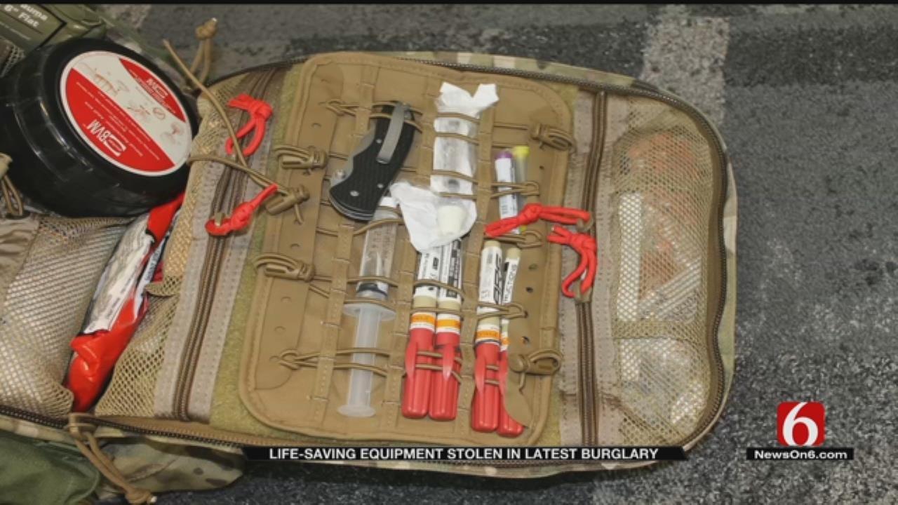 String Of Bartlesville Burglaries Includes Stolen Lifesaving Equipment