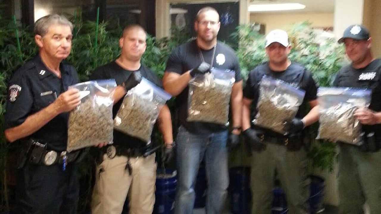 Checotah Police Discover Indoor Marijuana Growing Operation