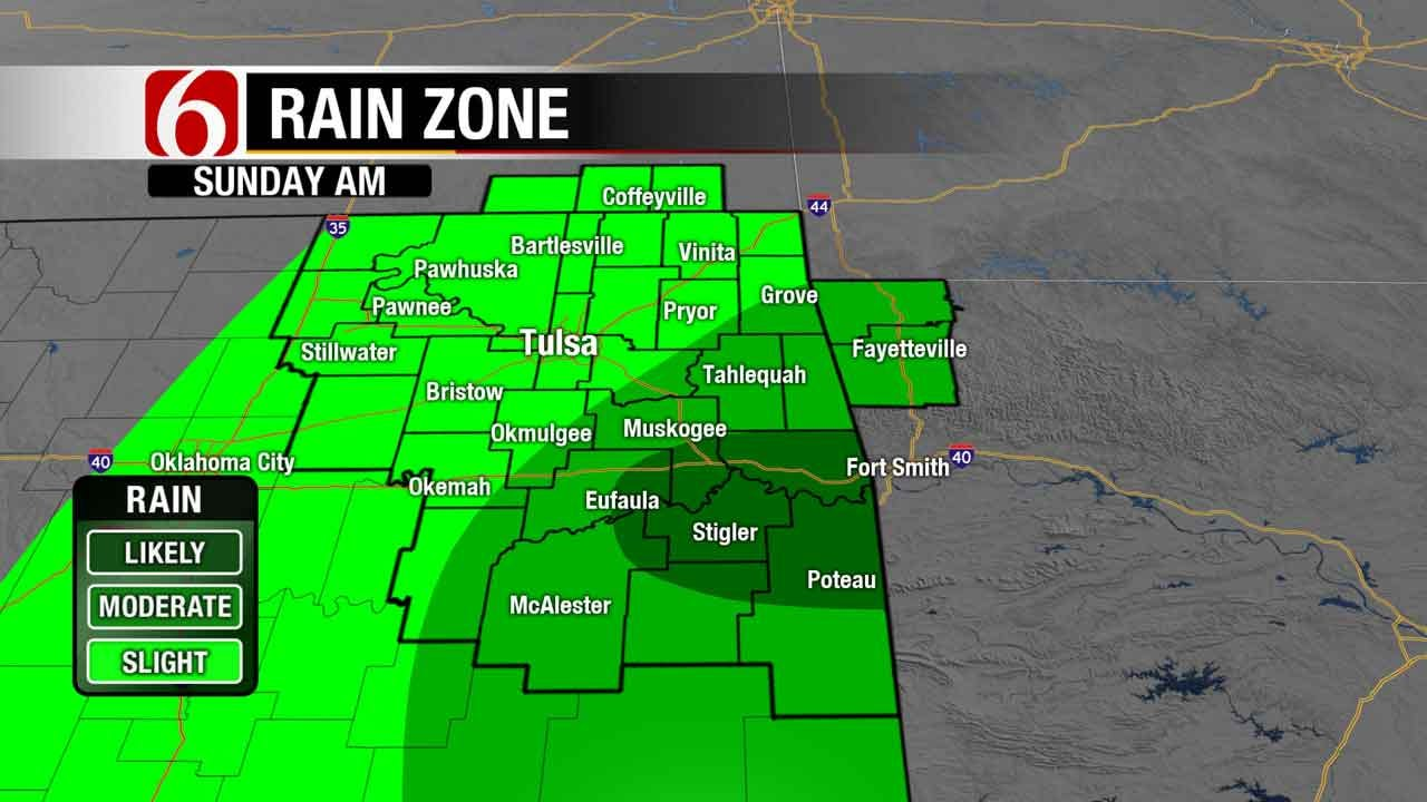 Storm Chances Remain As August Temperatures Return To Green Country