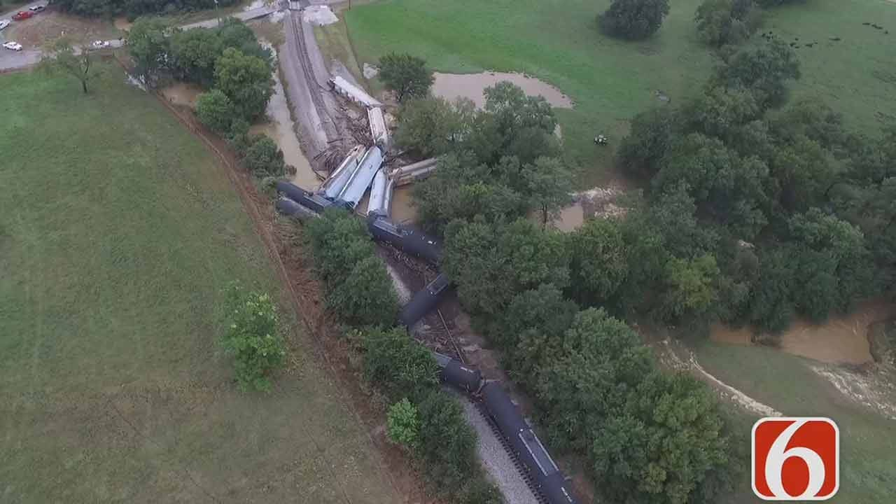 Clean-Up Ongoing In Sequoyah County Train Derailment
