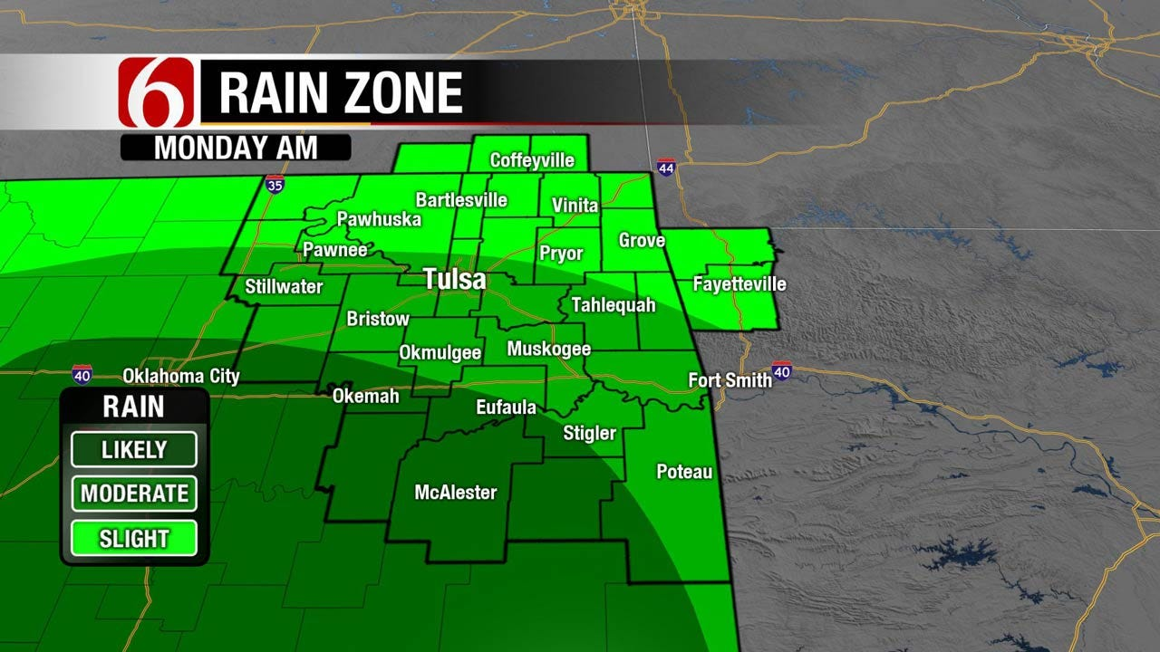 Continued Chance Of Storms Across Eastern Oklahoma