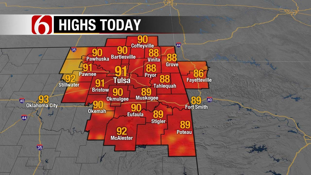 Unusual August Weather Continues For Eastern Oklahoma