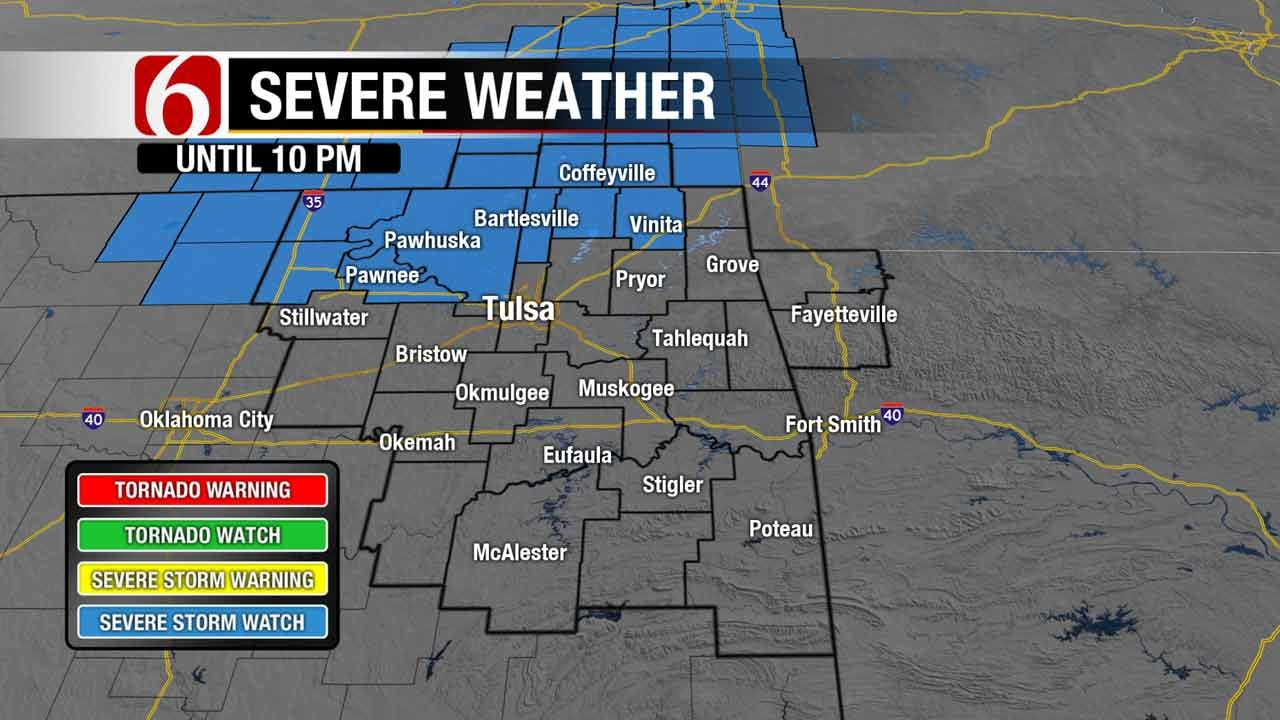 Chance Of Strong To Severe Storms In Green Country Wednesday