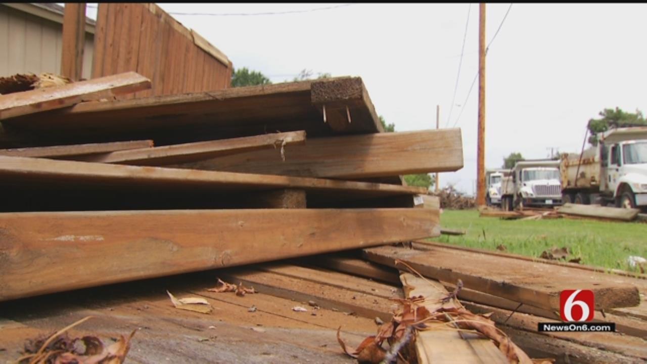City Crews Still Clean Up Tornado Damage In Tulsa-Area Neighborhoods