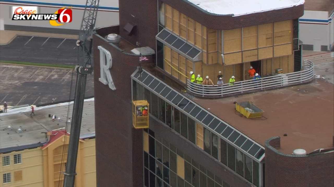 Remington Tower Tenants Get First Look Inside Businesses Since Tornado