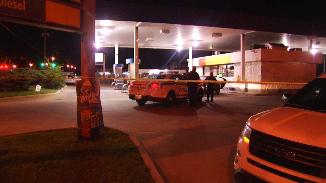 Driver Sought After Hitting, Breaking Man's Leg Outside Tulsa Gas Station