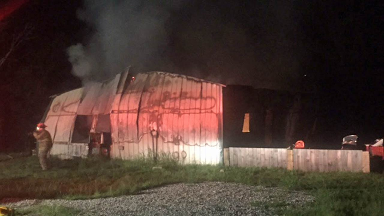 Fire Destroys Creek County Home