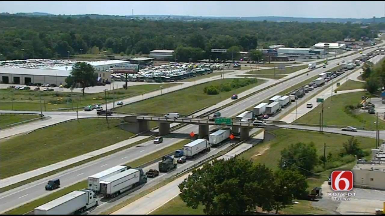 Another Crash Blocks I-44 Westbound Lanes In Tulsa
