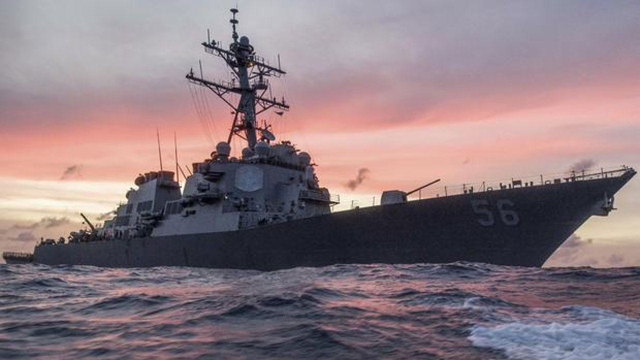 10 Sailors Missing After U.S. Navy Destroyer Collides with Merchant Ship